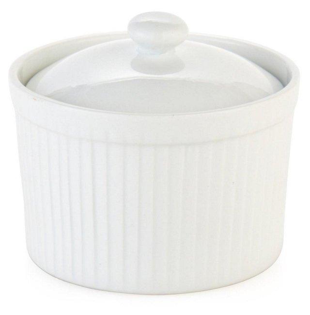 S/4 Porcelain Ramekins w/ Lids