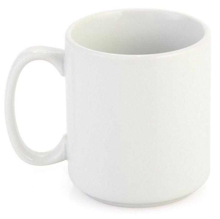 S/4 Stackable Porcelain Mugs