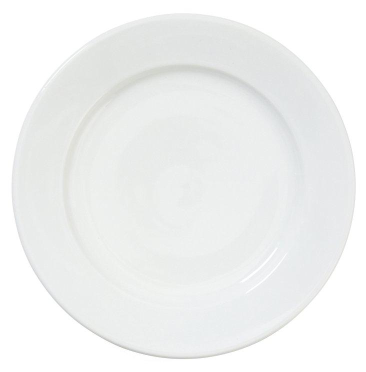 S/4 Porcelain Bistro Dinner Plates