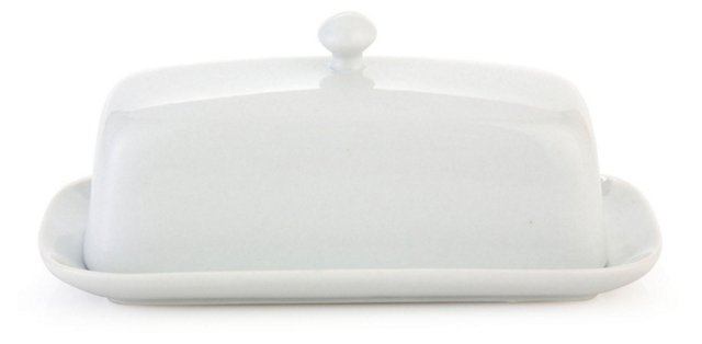 Covered Porcelain Butter Dish