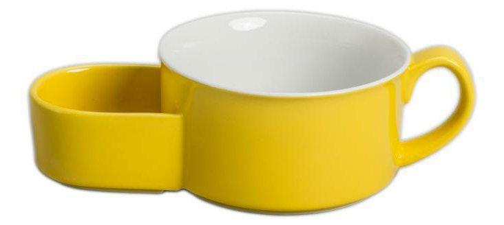 S/4 Soup & Cracker Mugs, Yellow