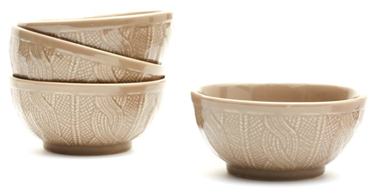 S/4 Sweater Bowls, Gray