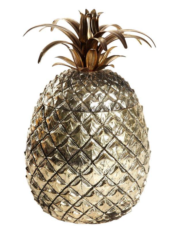 Metal Pineapple Ice Bucket
