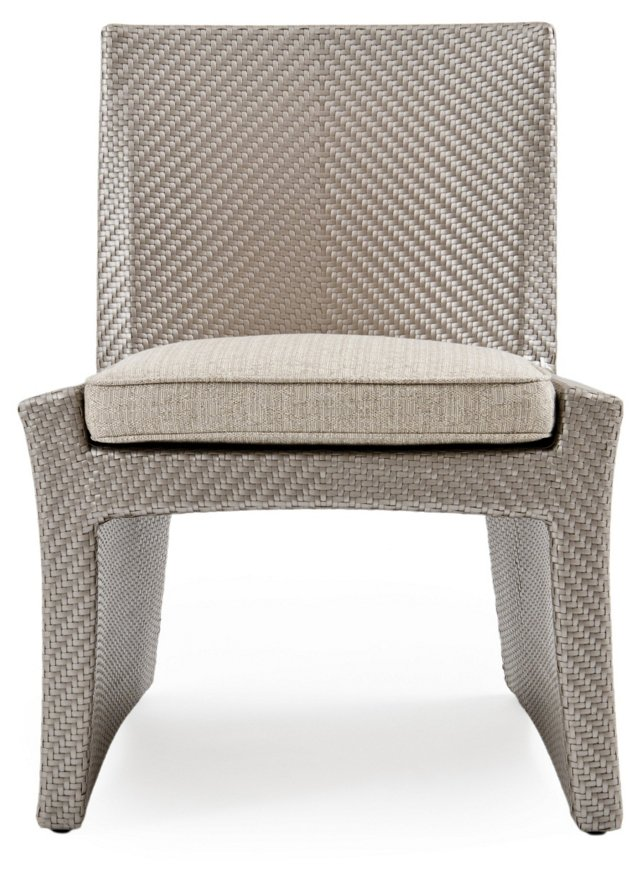 Open Side Chair, Platinum