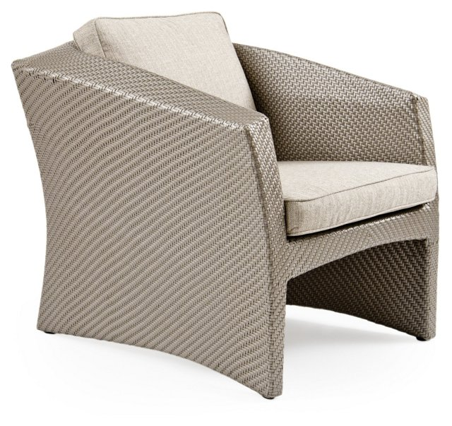 Ospray Lounge Chair, Platinum