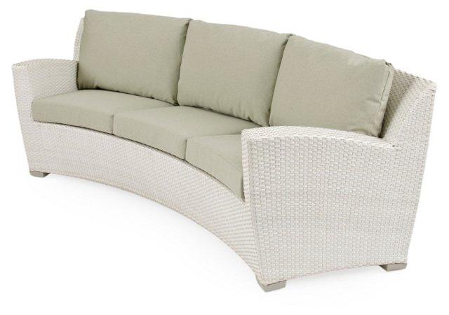 Fusion Curved Sofa, Sage