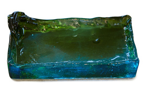Glass Catchall, Green