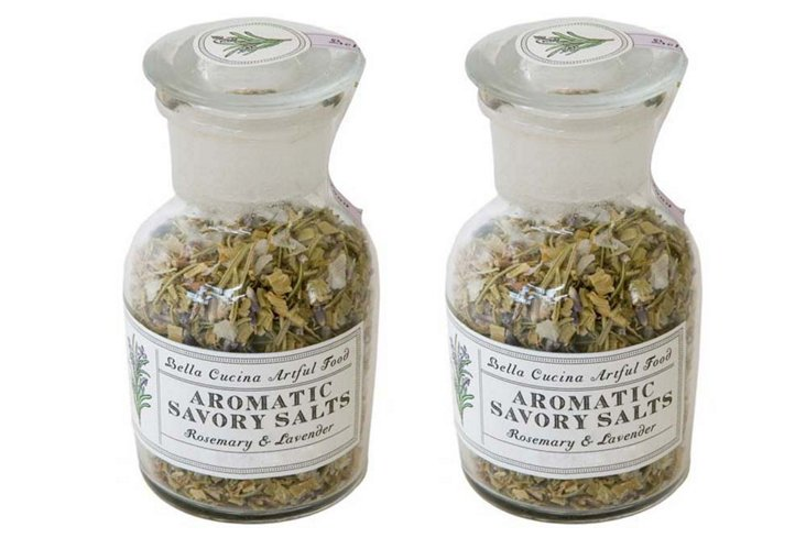 Rosemary & Lavender Savory Salts, S/2