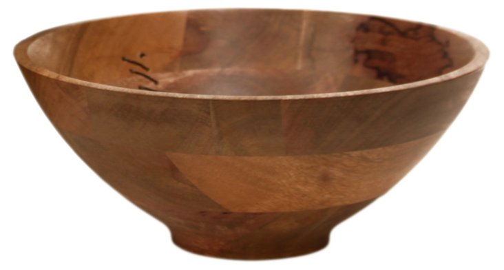 """12"""" Agra Wood and Wire Bowl"""