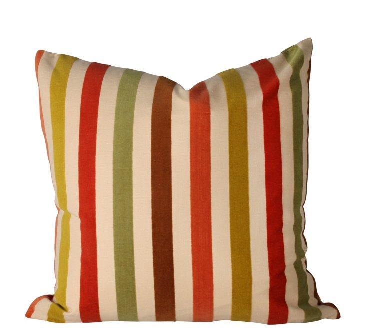 Oxford Stripe 24x24 Pillow