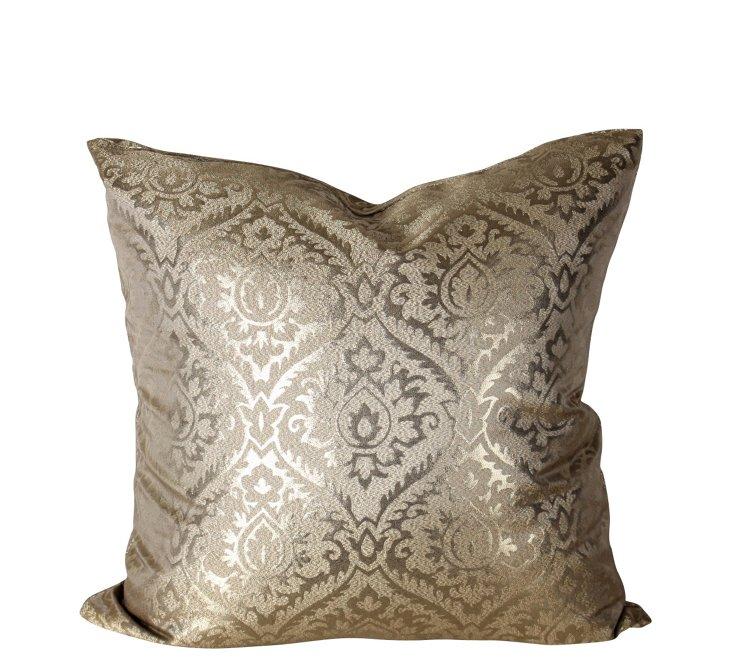 Metallic Damask 18x18 Pillow