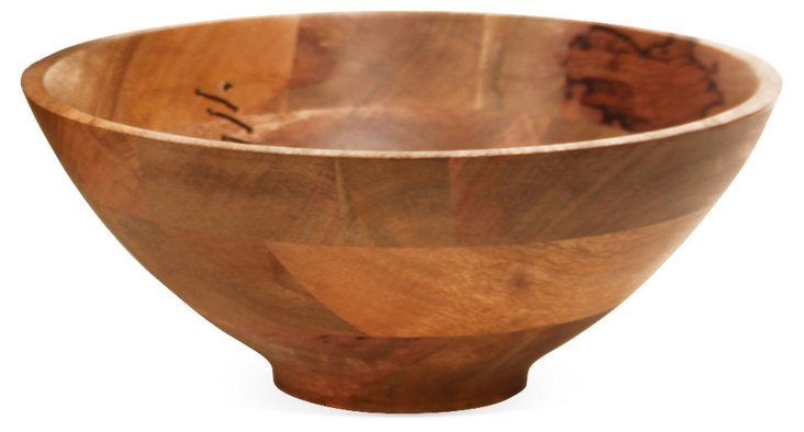 "12"" Agra Wood and Wire Bowl"