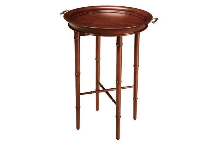 Alana Bamboo Tray Table, Cherry