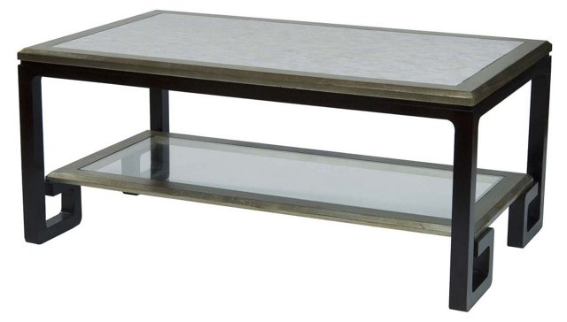 "Taylor 50"" Mother-of-Pearl Coffee Table"