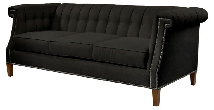 "Ali 82"" Tufted Sofa, Wenge"