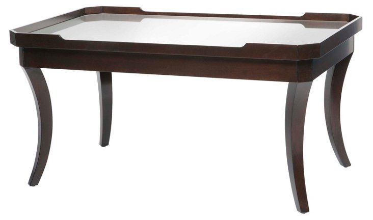 """Victoria 40"""" Cocktail Table, Chocolate"""