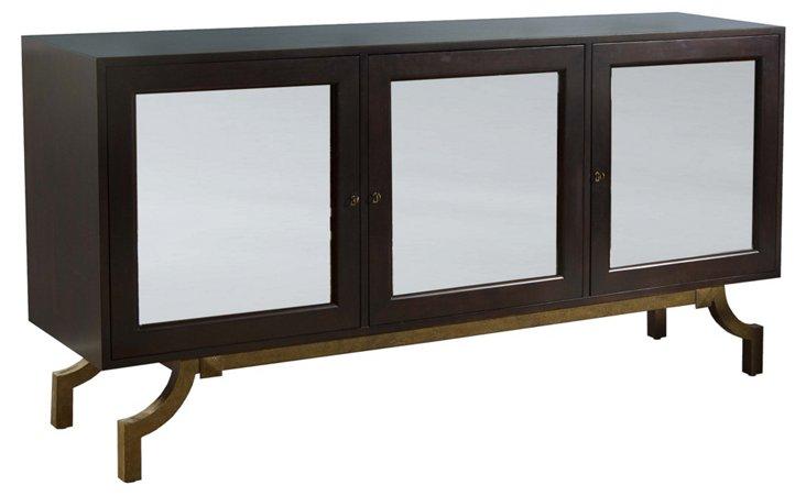 "Lawrence 72"" Mirrored Sideboard, Wenge"