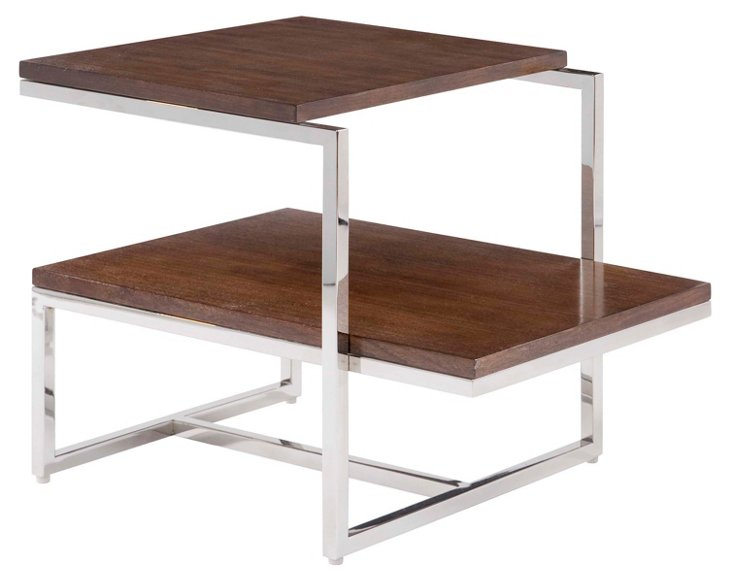 Baxter 2-Tier Drinks Table, Walnut