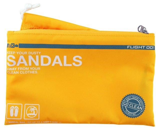 Go Clean Sandals Bag, Yellow