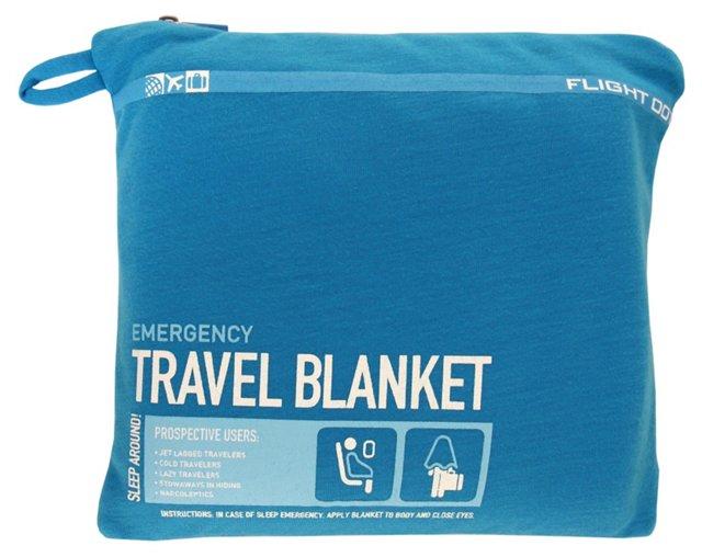 Travel Blanket/Pillow, Blue