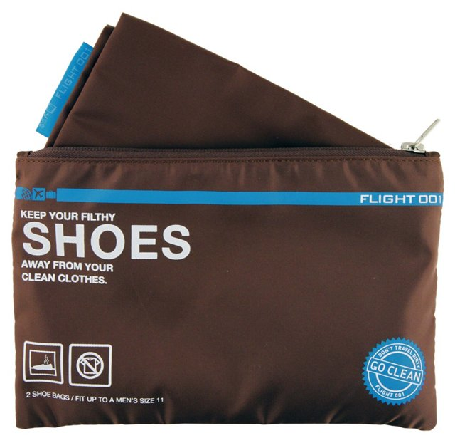 S/2 Go Clean Shoes Bag, Brown