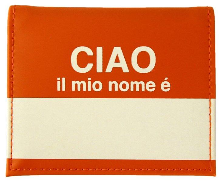 "S/3 ""Ciao"" Passport Case, Orange"