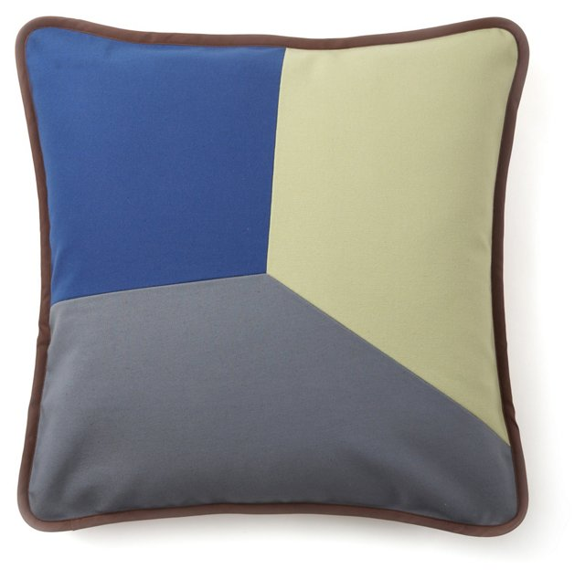 Graphic Throw Pillow, Blue/Multi