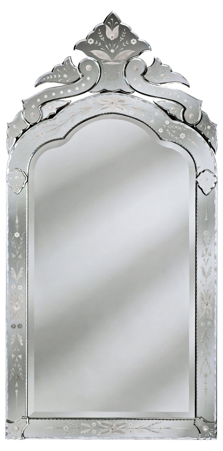 Piedmont Oversize Mirror, Clear