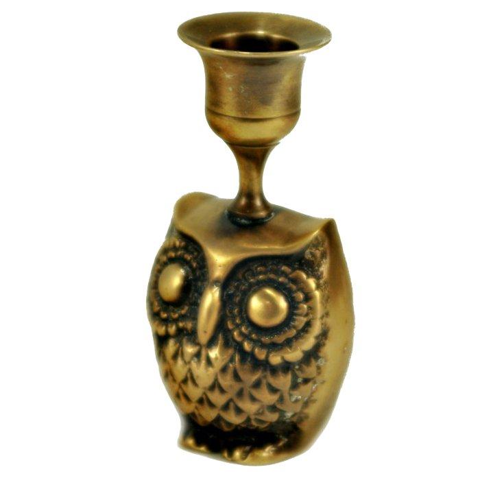 S/2 Owlet Candlesticks