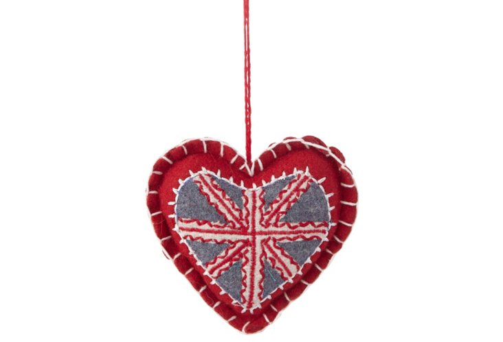 Union Jack Heart Ornament