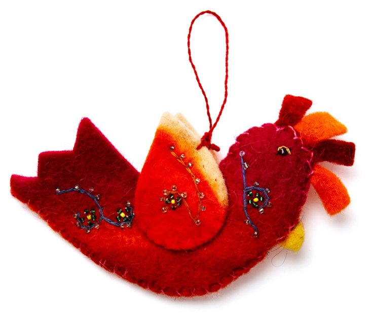 Plumage Ornament, Red