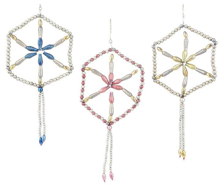 Etoile Ornaments, Asst. of 3