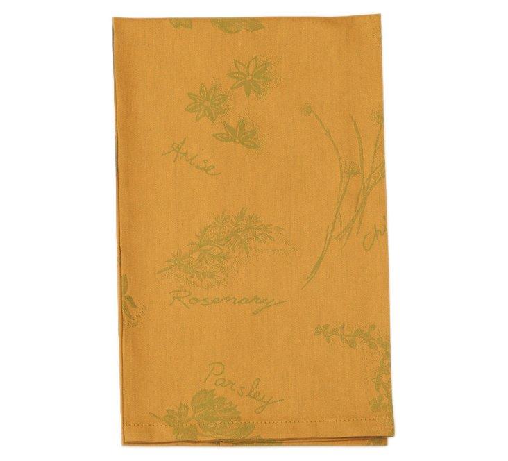 S/6 Herb Garden Dish Towels, Mango