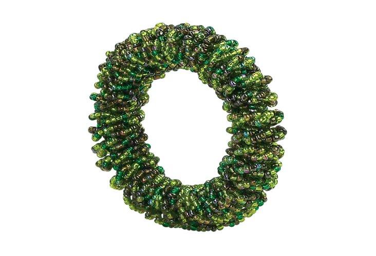 S/4 Tina Napkin Rings, Green