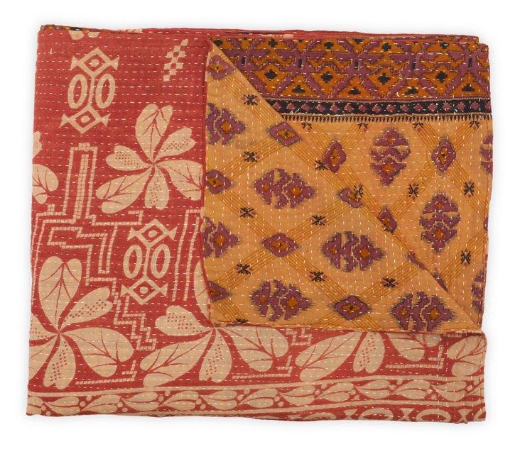 Hand-Stitched Kantha Throw, Lassie