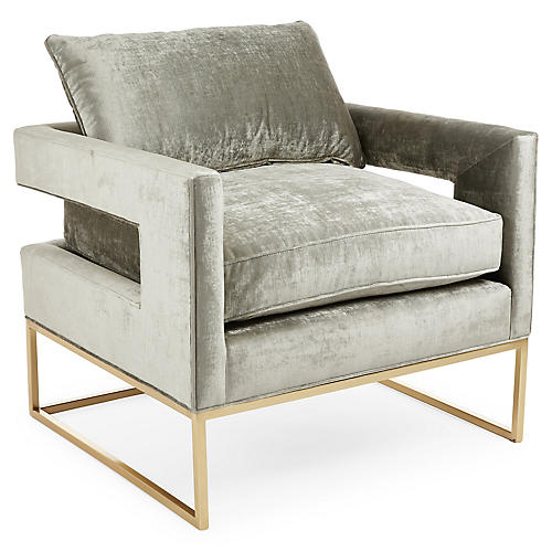 Bevin Chair, Metal Velvet