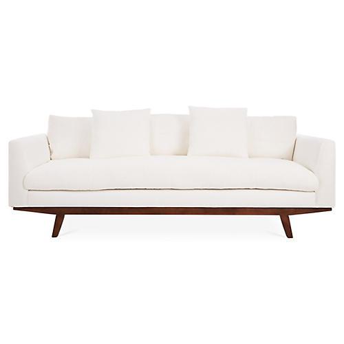 Newell Small Sofa, Ivory Linen