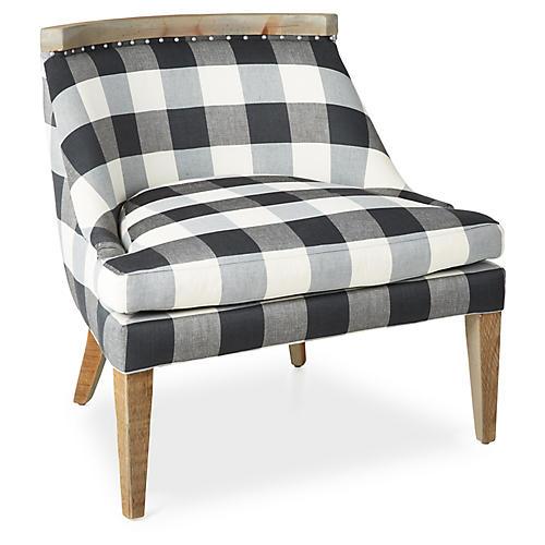 Bryce Accent Chair, Gray Linen
