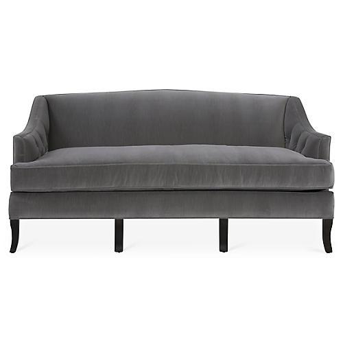 Coventry Sofa, Gray Velvet