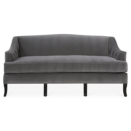 Coventry Sofa, Gray Velvet
