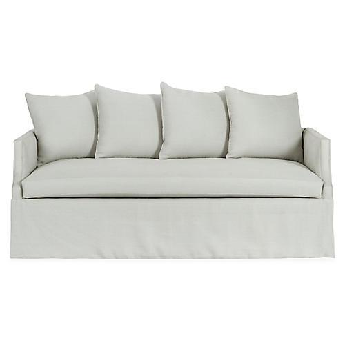 Dumont Trundle Bed, Sea Glass Linen