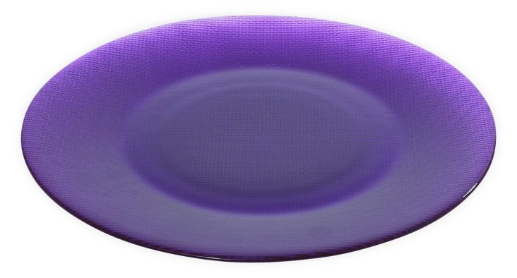 S/6 Glass Inca Chargers, Purple