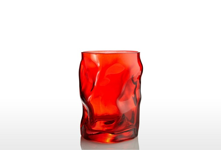 S/4 Sorgente Water Glasses, Red