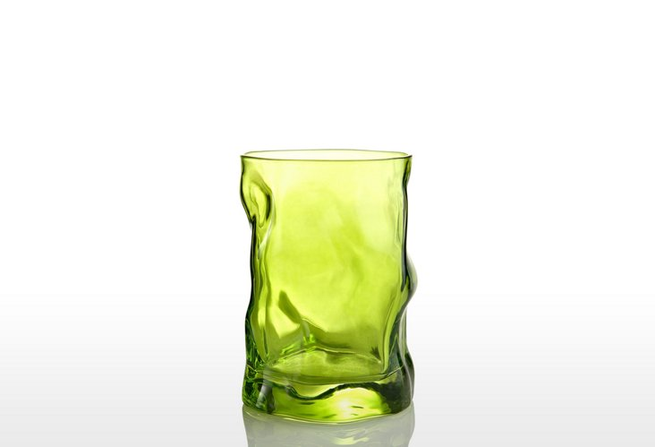 S/4 Sorgente Water Glasses, Lime Green