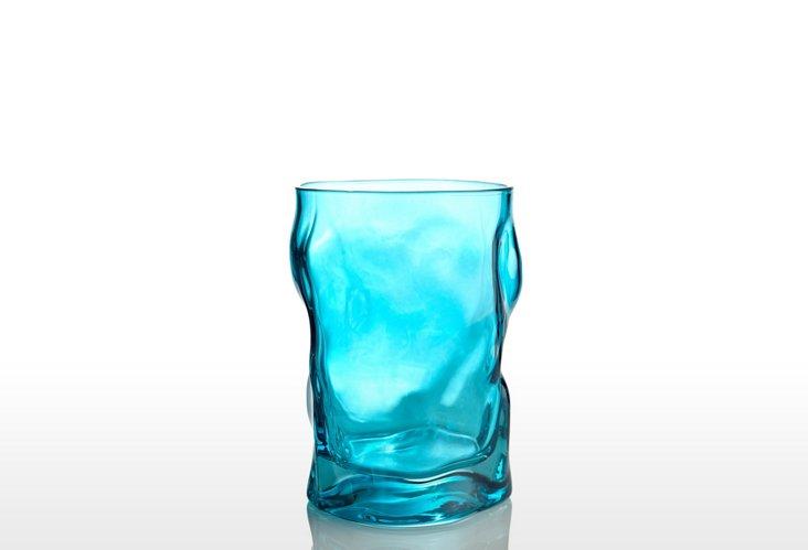 S/4 Sorgente Water Glasses, Sky Blue