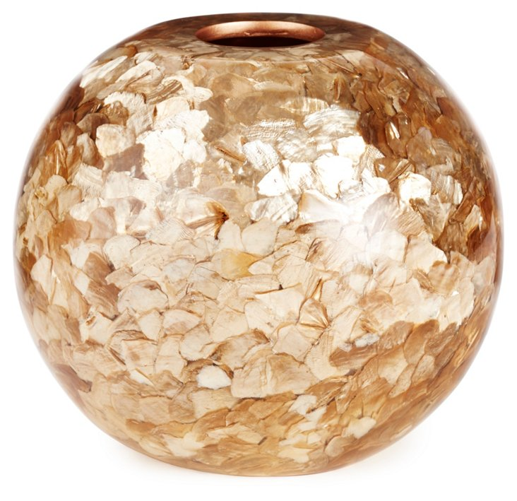 "8"" Bona Vase, Gold"