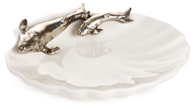 "6"" Shell Plate w/ Whale"