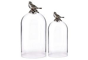 Asst. of 2 Bird Glass Cloches