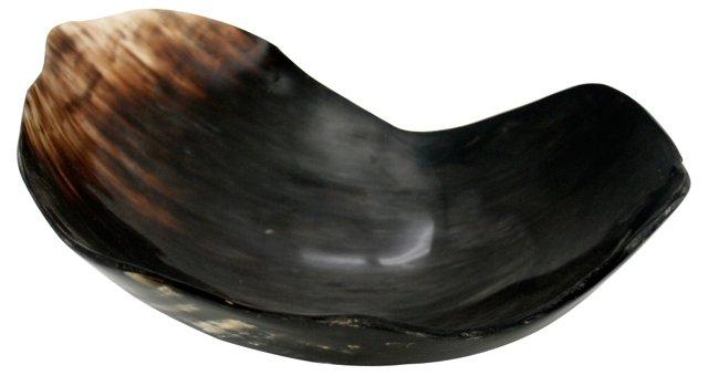 "13"" Horn Bowl, Brown"