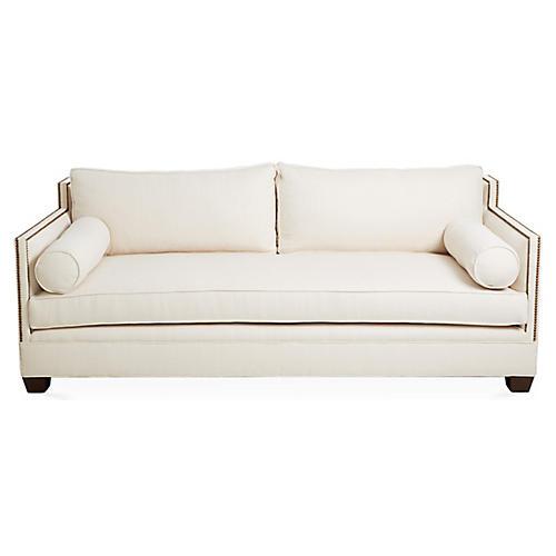 """Gramercy 84"""" Sofa, Ivory"""